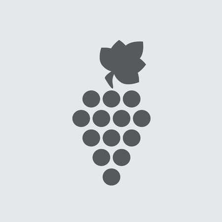 Grape icon or sign. Design element for wine making, viticulture, wine house. Illustration