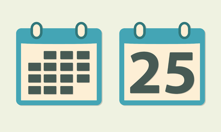 event planner: Calendar icon set in flat style. Colorful vector illustration.