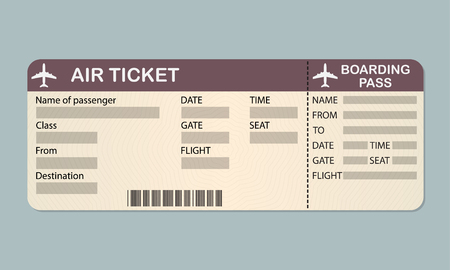 Airline boarding pass ticket template.