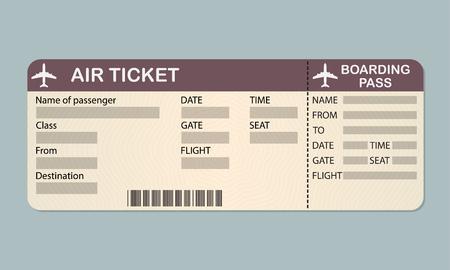 Modello di biglietto di pass-in aereo.