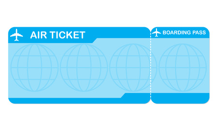 Airplane ticket blank space Illustration