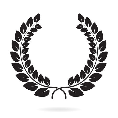 Laurel wreath on Award icon or sign isolated on white background Vector illustration.