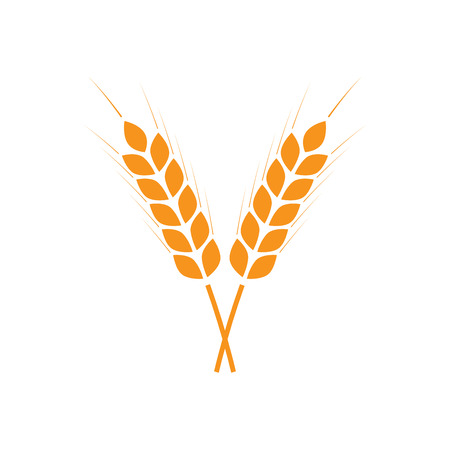 Wheat ears or rice icon.