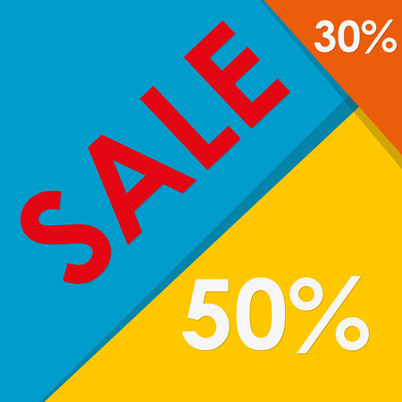 Sale design template. Colorful vector illustration.