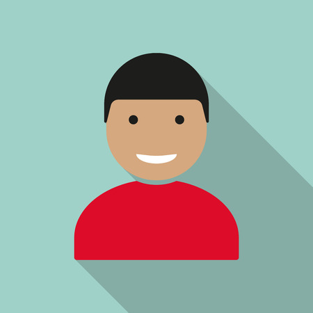User sign icon, person symbol or human avatar. Vector illustration.