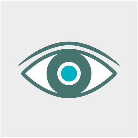 Eye icon or sign. Colorful vector illustration.
