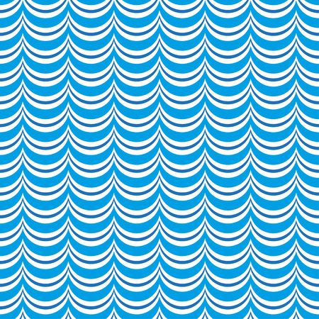 Waves seamless pattern. Waves and marine background. Vector illustration.