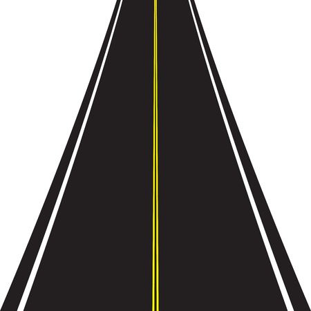 Asphalt road isolated on white background.  イラスト・ベクター素材