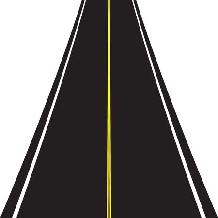 Asphalt road isolated on white background. 向量圖像