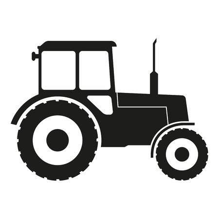 Icona del trattore isolato su priorità bassa bianca. Illustrazione vettoriale.