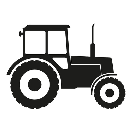 Tractor icon isolated on white background. Vector illustration. 矢量图像