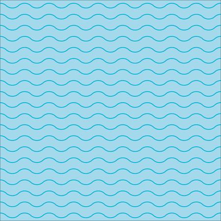 Wave pattern. Seamless wavy line pattern. Vector illustration.