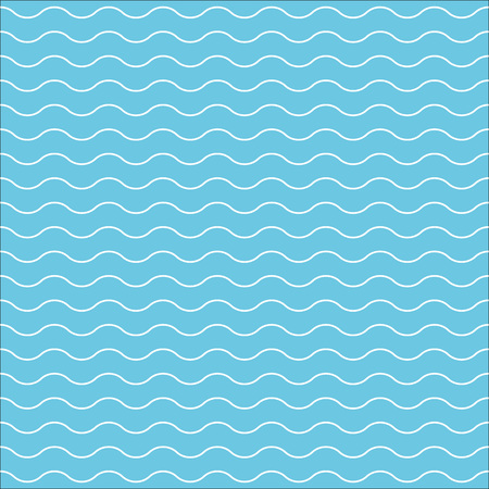 Wave pattern or water texture. Seamless wavy line pattern. Vector illustration.