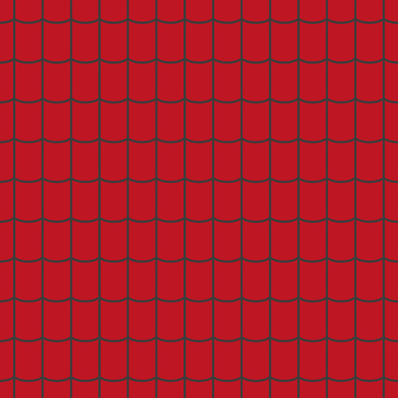 Roof tile texture. Red roof tile seamless pattern. Vector illustration.