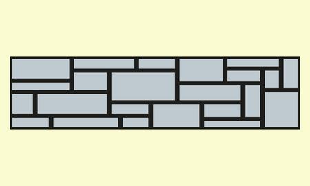 Wall stone texture. Stone seamless pattern. Vector illustration.