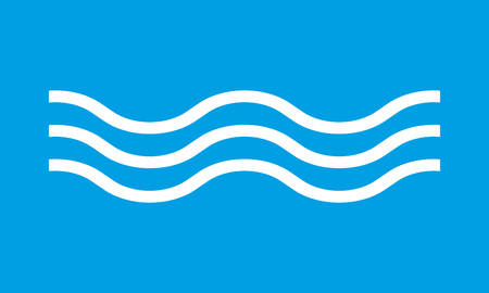 Wave icon. Line water sign. Vector illustration.