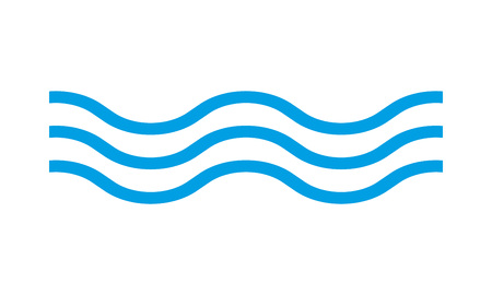Icône de vague. Signe d'eau de ligne. Illustration vectorielle. Vecteurs