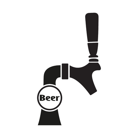 Beer tap icon isolated on white background. Vector illustration.