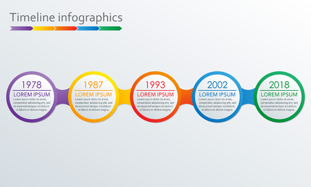 timeline infographics template vector design elements royalty free