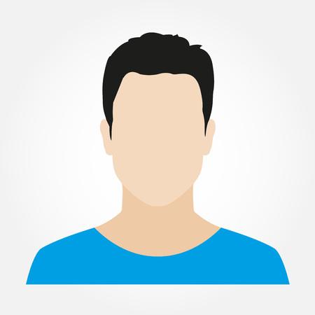 Mann Avatar Profil. Männliches Gesicht Symbol. Vektorillustration.
