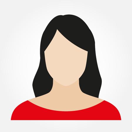Frauen-Avatar-Profil. Weibliches Gesicht Symbol. Vektorillustration. Vektorgrafik