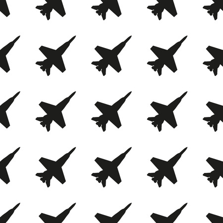 Plane pattern. Seamless Jet fighter background. Vector illustration.