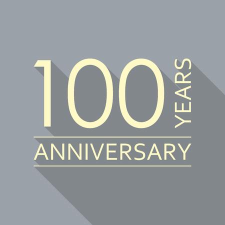 100 years anniversary emblem. Anniversary icon or label. 100 years celebration and congratulation design element. Vector illustration. Illusztráció