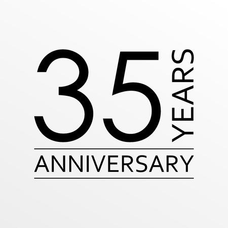 35 years anniversary icon. Anniversary decoration template. Vector illustration.