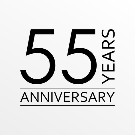 55 years anniversary icon. Anniversary decoration template. Vector illustration. Illustration
