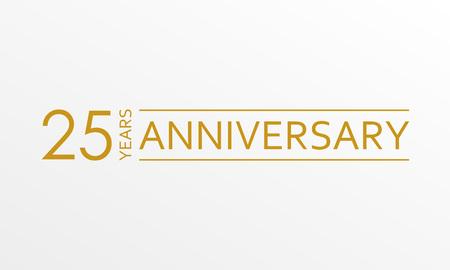 Ikona rocznicy 25 lat. Szablon dekoracji rocznicy. Ilustracja wektorowa.