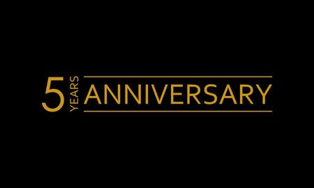5 years anniversary icon. 5th birthday emblem. Anniversary design element. Vector illustration. Illustration