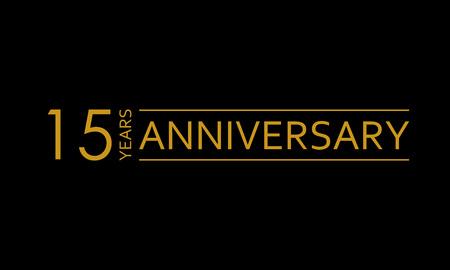 15 years anniversary icon. 15th birthday emblem. Anniversary design element. Vector illustration.