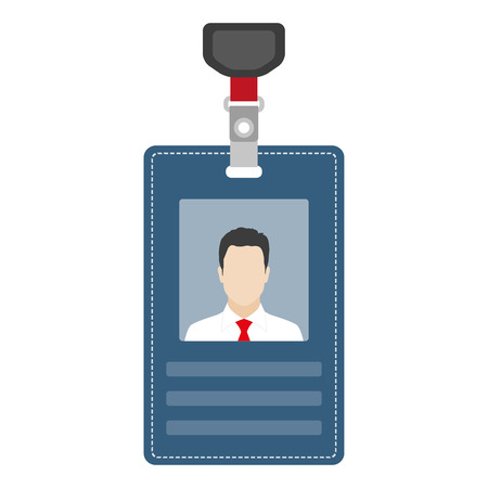 ID card, badge or access card. Vector illustration.