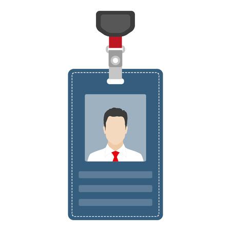 ID card, badge or access card. Vector illustration.