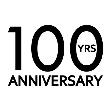 100 years anniversary icon. Anniversary decoration template. Celebrating and birthday emblem. Vector illustration. Vektoros illusztráció