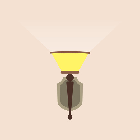 Wall lamp or sconce icon. Vintage design. Vector illustration.