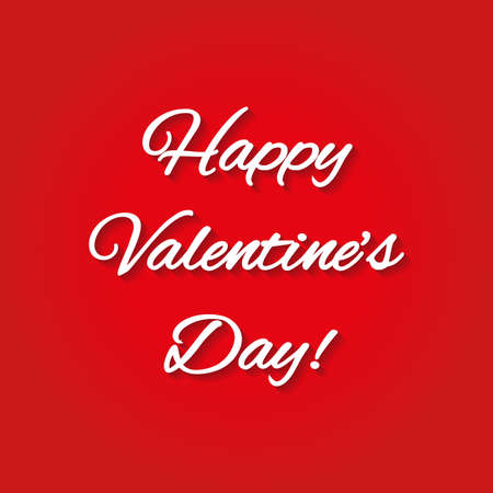 Happy Valentines Day lettering background. Vector illustration.
