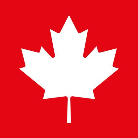 Maple leaf icon. Canadian symbol. Vector illustration. Illustration