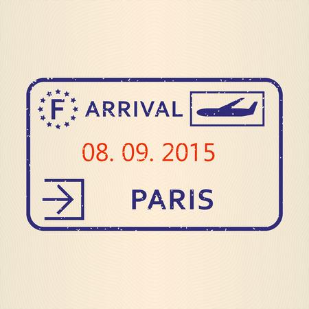 Paris passport stamp.