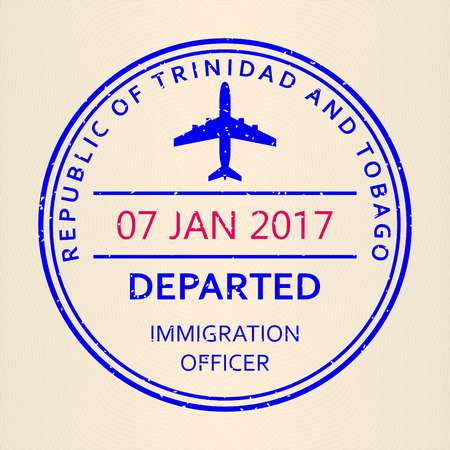 Passport stamp. Standard-Bild - 115776354