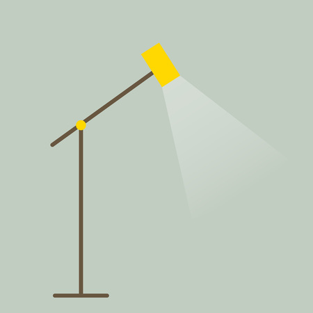 Floor lamp icon in flat style. Modern design element for interior. Vector illustration.