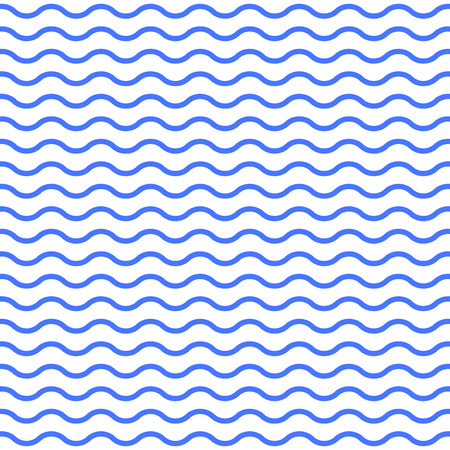 Water or Wave pattern. Seamless water texture. Wavy lines background. Vector illustration.  イラスト・ベクター素材