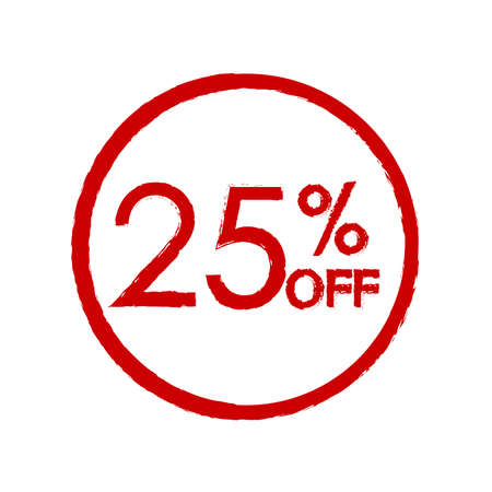 25% off. Sale and discount price icon. Sales tag design template. Vector illustration.