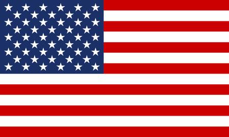 Bandera de EE.UU. Símbolo nacional de los Estados Unidos de América. Ilustración de vector.