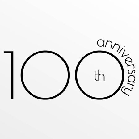 100th anniversary icon. Foto de archivo - 128902055