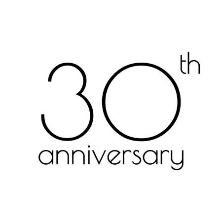 30th anniversary icon. 30 years celebrating and birthday logo. Vector illustration. Illustration