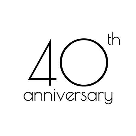40th anniversary icon. 40 years celebrating and birthday logo. Vector illustration. Illustration