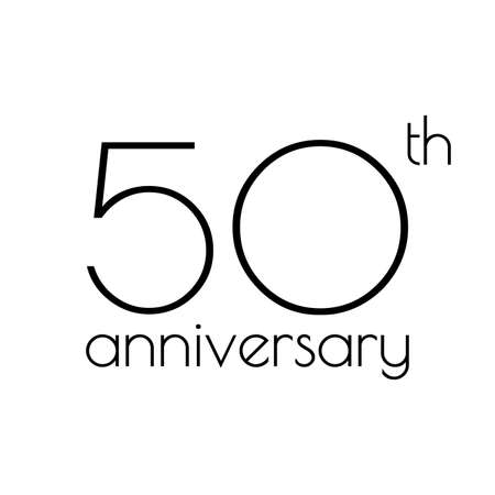 50th anniversary icon. 50 years celebrating and birthday logo. Vector illustration.