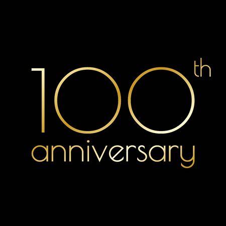 100th anniversary icon. Foto de archivo - 128902066