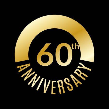 60 years anniversary icon. Illustration